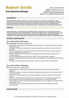 Area Manager Resumes Area Operations Manager Resume Samples Qwikresume