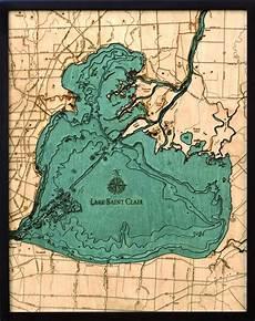 Lake St Clair Depth Chart Lake St Clair Depth Map