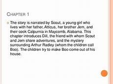 To Kill A Mockingbird Chapter 7 Summary Tkam Summary