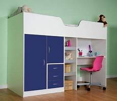 high sleeper cabin bed with colour options ideal