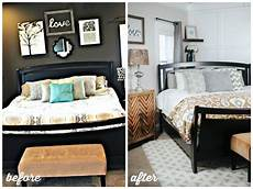 bright cheery master bedroom