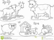 coloring farm animals 2 stock vector illustration of cows