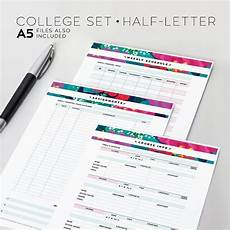 College Weekly Planners Organize Your Assignments Course Info And Schedule With
