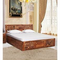 sheesham brown ginna solid wood king size bed by trendsbee