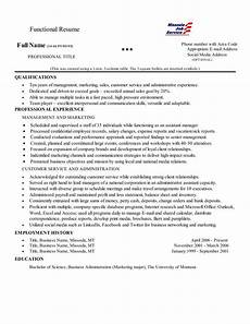 Common Resumes Functional Resume This Is A Common Layout For A Functional