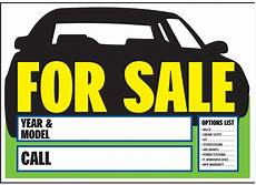 For Sale Sign For Car 10x14 Inch Auto For Sale Sign