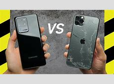 Galaxy S20 Ultra vs. iPhone 11 Pro Max Drop Test!   YouTube