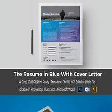 Blue Resume Paper Blue With Cover Letter Resume Template 67069 Cover