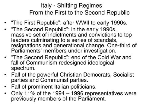 Italy Political System