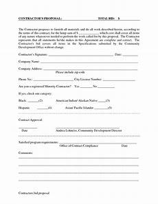 Bid On Construction Jobs Free Printable Blank Bid Proposal Forms Scope Of Work