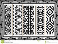 Indianische Muster Malvorlagen Set Alte Indianische Muster Vektor Abbildung