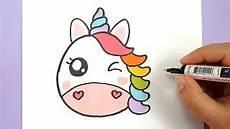 kawaii regenbogen einhorn emoji selber malen diy kawaii