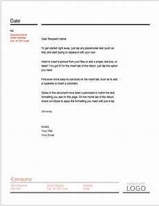 Letter Head Template Word 38 Free Letterhead Templates Ms Word Templatehub