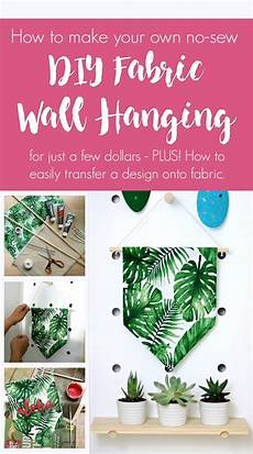 southern in how to make a diy no sew fabric wall hanging