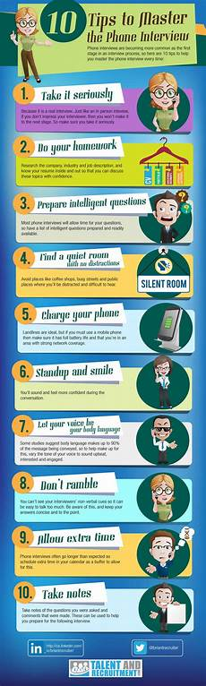 Tip For Job Interview 10 Tips To Master The Phone Interview Infographic