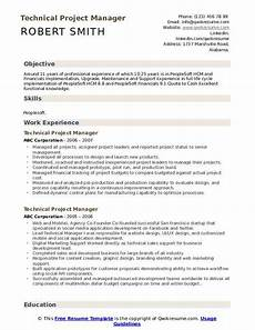 Architectural Project Manager Resume Technical Project Manager Resume Samples Qwikresume