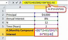 Monthly Compound Interest Formula Monthly Compound Interest Formula Calculation With