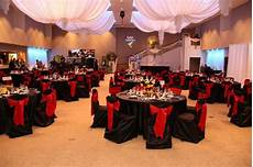 red and black reception decorations black and red
