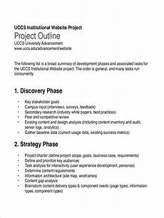 Sample Project Outline Free 23 Free Outline Examples In Pdf Examples