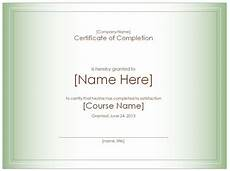 Certification Of Completion Template Certificate Of Completion Template Certificate Of