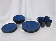 McLeland Design 16 pc. Stoneware Dinnerware Set