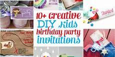 Diy Birthday Party Invitations 10 Creative Diy Kids Birthday Party Invitations Design
