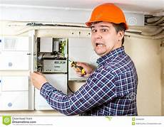 Shock Technician Electrician Got High Voltage Shock While Repairing