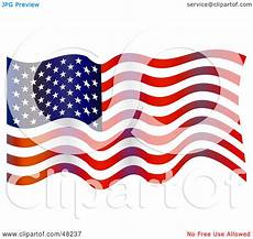 American Flag Watermarks Royalty Free Rf Clipart Illustration Of An American Flag