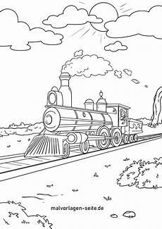 Malvorlage Zug Ausdrucken Ausmalbild Eisenbahn Kostenlos Kinder Ausmalbilder
