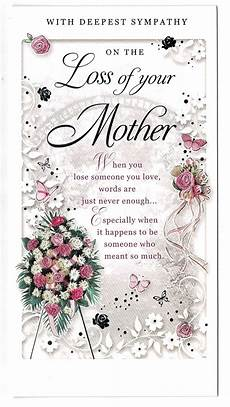 Sympathy Card For Loss Mother Sympathy Card On The Loss Of Your Mother Ebay