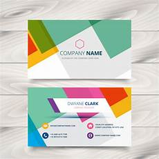 Colorful Business Cards Modern Colorful Business Card Template Design Download