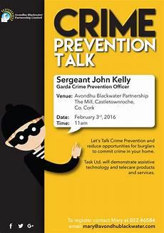 Crime Poster Design Avondhu Blackwater Partnership Crime Prevention In The