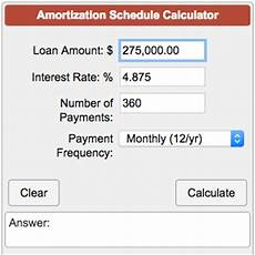Amortization Schedule Calculator Amortization Schedule Calculator