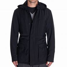 canali tailored weather proof hooded coat in black