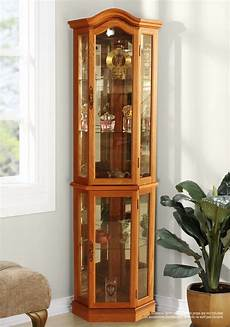 winston porter shook lighted corner curio cabinet ebay