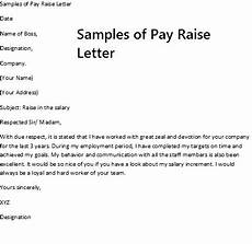 Pay Rise Letter Template Sample Of Pay Raise Letter