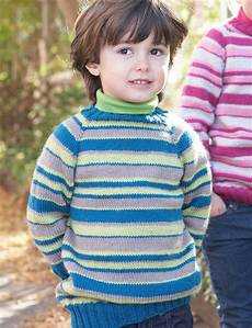 knit for kids patons top striped sweater knit pattern