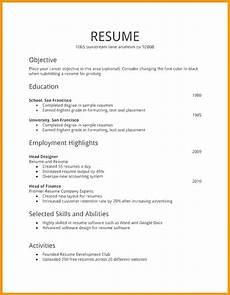 Template For First Resume Free Resume Templates First Job Job Resume Template