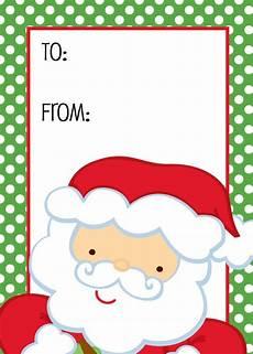 Santa Tag Christmas Santa Gift Tag With Images Editable