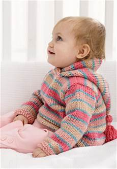 chunky hoodie baby sweater knitting pattern favecrafts