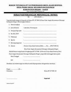 surat keterangan kematian pemerintahan desa andong