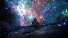 space landscape wallpaper 4k mountain space nebula landscape wallpapers hd