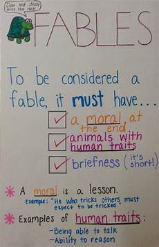 Fable Anchor Chart 2nd Grade 17 Best Images About Literature Fables By Aesop On