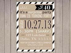 Free Surprise Birthday Party Invitations Items Similar To Surprise Party Invitation Printable