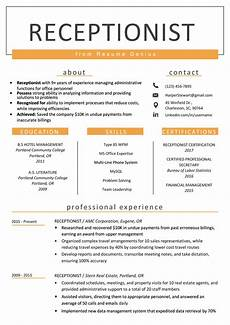 Receptionist Job Resumes Receptionist Resume Sample Amp Writing Guide Resume Genius
