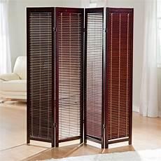 wooden room divider privacy screen 4 panel adjustable