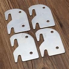 set of 4 iron universal wood bed rail replacement bracket