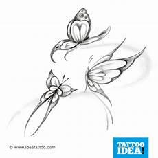 tatuaggio fiore e farfalla flash butterfly ideatattoo