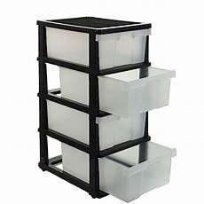 j burrows 4 drawer storage cabinet clear ebay