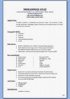 Resume For Job Interview Biodata Clipart Clipground